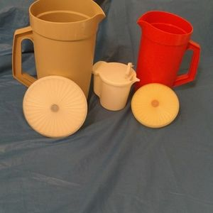 Vintage tupperware pitchers